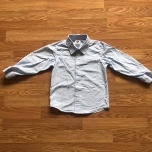 Classic blue checked button down.